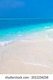Color gradient at the sandbank islands Madivaru and Finolhu in Rasdhoo Atoll Maldives.