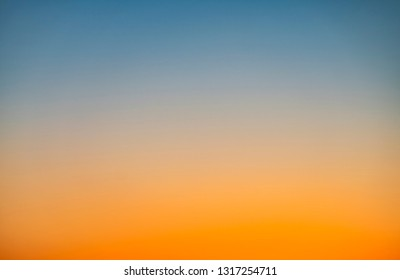 Color Gradient from the Sky at Sunset