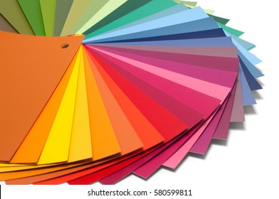 Color guide with palette of paint samples, catalog for tinting
