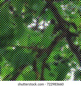 Color halftone background. Colorful doted texture.