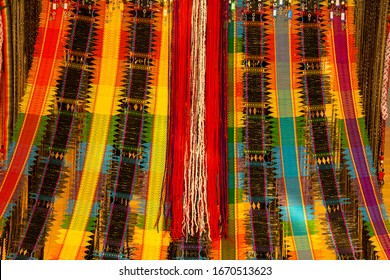 color of handcraft fabric background