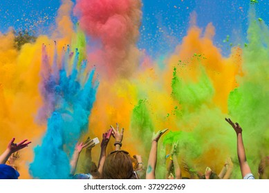 Color holi festival