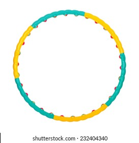 color hula hoop on a white background
