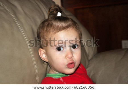 bc66793ca Color Image Infant Girl Making Cute Stock Photo (Edit Now) 682160356 ...