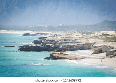 Color image of the Walkerbay coastline in Gansbaai in South Africa
