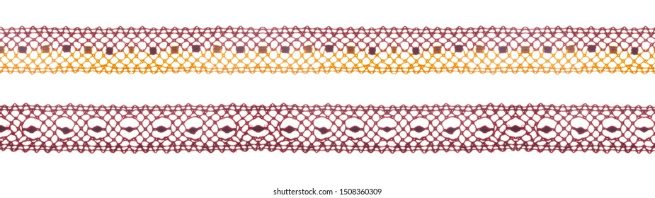 Color lace ribbons isolated shot