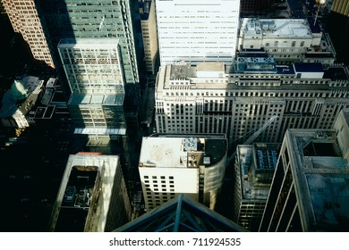 Color landscape of above view on Philadelphia, skyline