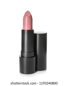 Color lipstick on white background