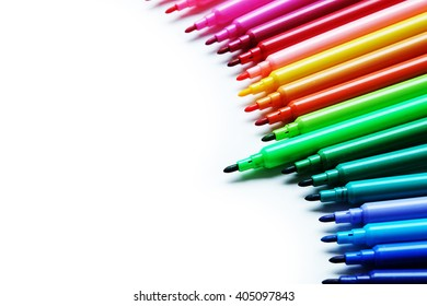 Color marker pen selected in green pen in clear background