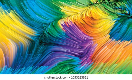 Color In Motion series. Design composed of liquid paint pattern as a metaphor on the subject of design, creativity and imagination to use as wallpaper for screens and devices