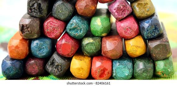 Color oil pastels