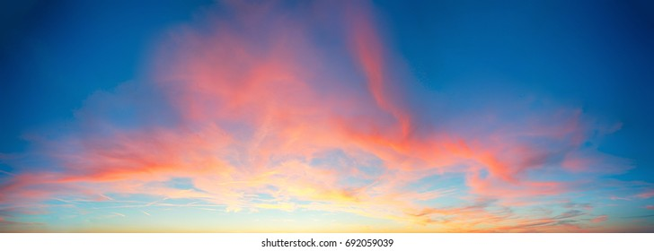 Color only sky with red and orange clouds