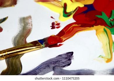 color paint brush