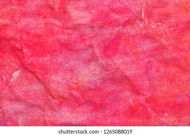 color paint on flabby paper background or texture