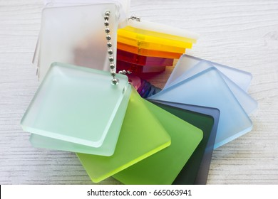 Color palette of acrylic