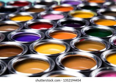 Color palette, can, Rainbow colors background