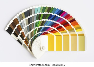 Color Palette Guide Isolated on White Background. Sample Colors Catalog.