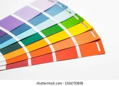 Color palette, guide of paint samples catalog. Moscow, 2019