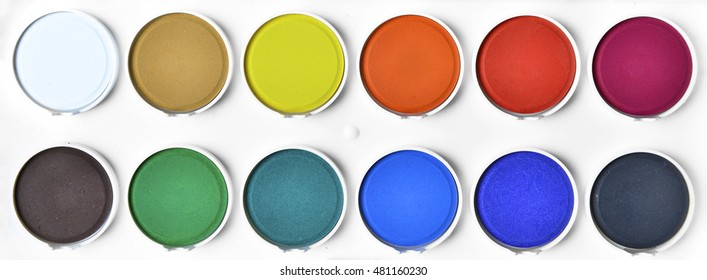 Color palette on a white background