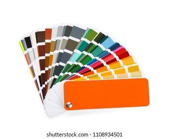 Color palette samples on white background
