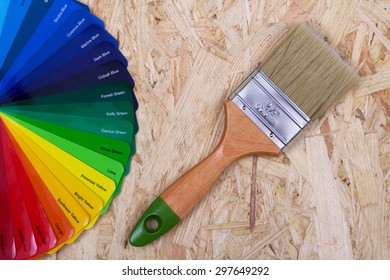 color palette for selection and paint brush
