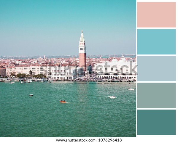 Color palette. Color theory and mixing. Venice.