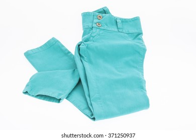 color pant for women on white background