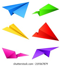 Color paper airplanes.