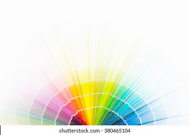 color paper chart on white background