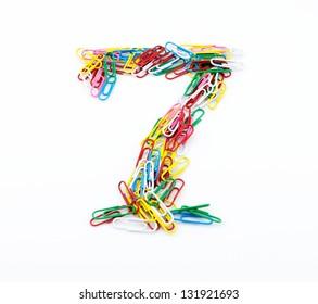 Color paper clips of Arabic numerals