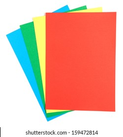Color paper isolate on white background