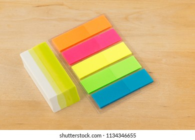 Color paper stickers and school writing instruments