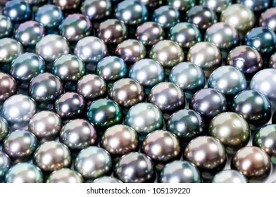 color pearls, realistic
