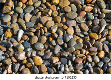 Color pebble stone in background