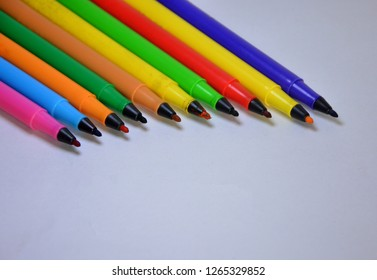 Color pen , color pencils skech