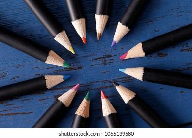 Color pencil, close-up