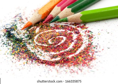 Color pencil graphite and pencils.