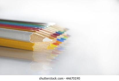 color pencil pallete macro soft focus 6