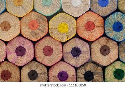 Color pencils background, macro