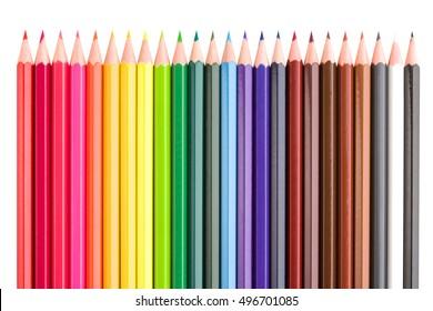Color pencils composition