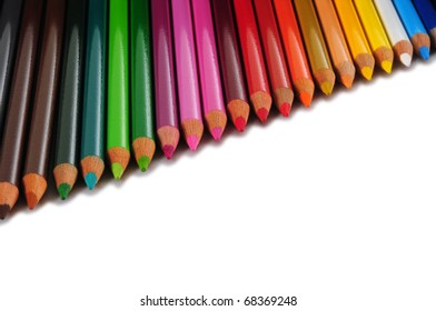 Color pencils. Isolated