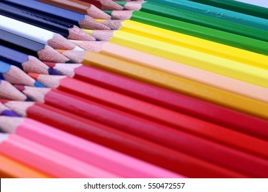 Color Pencils isolated on white back ground