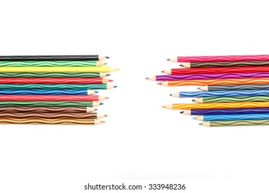 Color pencils wave