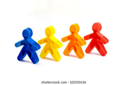 Color people in a line
