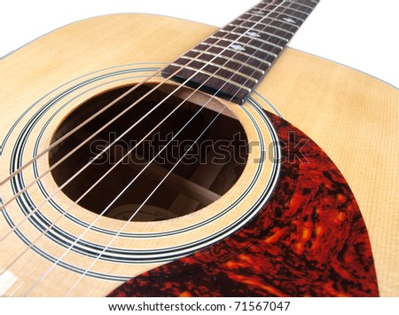 Color Photo Acoustic Guitar On White Stock Photo Edit Now 71567047