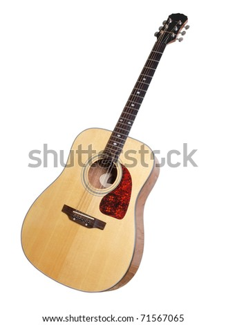 Color Photo Acoustic Guitar On White Stock Photo Edit Now 71567065