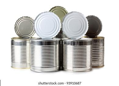 Color photo of a metal tin