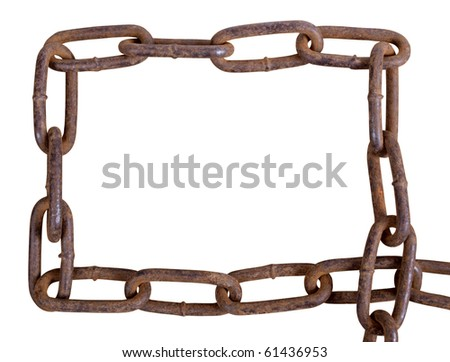 Color Photograph Heavy Metal Rust Chain Stock Photo (Edit Now ...