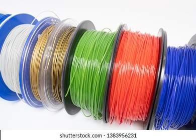 color plastic PLA PETG and ABS filament for printing on a 3D printer