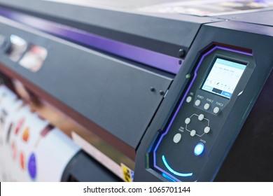 color plotter control panel